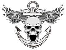 Cráneo de la marina de guerra ilustración del vector