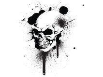 Cráneo de la pintada ilustración del vector
