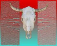 Cráneo de la vaca del sudoeste Imagen de archivo libre de regalías