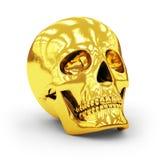 Cráneo de oro Fotografía de archivo