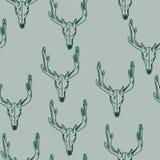 Cráneo de una textura de los ciervos Stock de ilustración