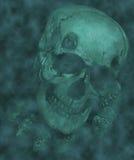 Cráneo de Víspera de Todos los Santos Fotografía de archivo