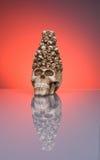 Cráneo de Víspera de Todos los Santos Imágenes de archivo libres de regalías