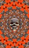 Cráneo de Víspera de Todos los Santos ilustración del vector