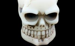 Cráneo de Víspera de Todos los Santos en una sonrisa Imagen de archivo
