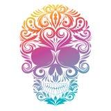 Cráneo decorativo floral Fotografía de archivo libre de regalías