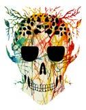 Cráneo del abstractl del arte Ilustración del Vector