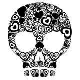 Cráneo del amor Fotos de archivo libres de regalías