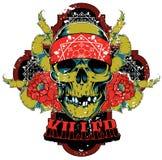 Cráneo del asesino ilustración del vector