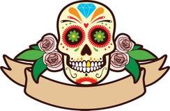 Cráneo del azúcar ilustración del vector