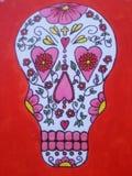 Cráneo del caramelo de México que pinté Imagen de archivo libre de regalías