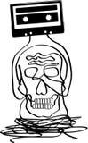 Cráneo del casete Foto de archivo libre de regalías