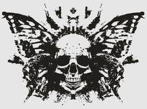 Cráneo del demonio con la mariposa libre illustration