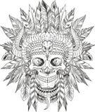Cráneo del jefe indio Fotografía de archivo libre de regalías