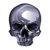 Cráneo del metal Imagenes de archivo