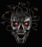 Cráneo del metal de la medusa Fotos de archivo libres de regalías