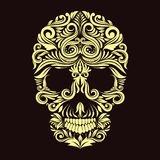 Cráneo del ornamento de Brown oscuro Imagen de archivo libre de regalías