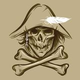 Cráneo del pirata Imagen de archivo libre de regalías