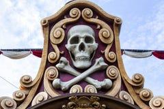 Cráneo del pirata Fotografía de archivo libre de regalías
