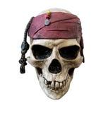 Cráneo del pirata, aislado en el fondo blanco imágenes de archivo libres de regalías