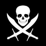 Cráneo del pirata con las espadas Fotos de archivo