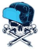 Cráneo del pirata en el fondo blanco Imagen de archivo libre de regalías