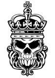 Cráneo del rey ilustración del vector