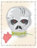 Cráneo del vector del diablo Imágenes de archivo libres de regalías