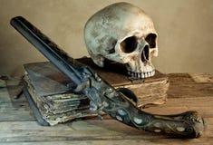 Cráneo del viejo maestro Imagen de archivo libre de regalías