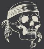 Cráneo del vintage Ilustración del vector Imagen de archivo