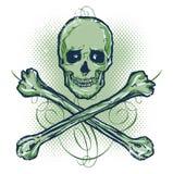 Cráneo e ilustración del vector de los Crossbones Imagen de archivo libre de regalías