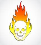 Cráneo en el fuego Foto de archivo libre de regalías
