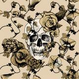 Cráneo en flores Fotografía de archivo