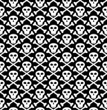 Cráneo en negro Foto de archivo libre de regalías