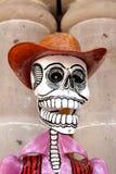 Cráneo en sombrero de vaquero Imagen de archivo libre de regalías