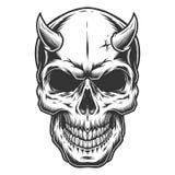 Cráneo en stule del vintage stock de ilustración