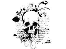 Cráneo en un fondo del grunge stock de ilustración