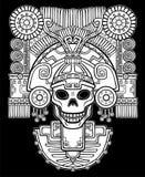 Cráneo estilizado Dios pagano de la muerte Foto de archivo libre de regalías