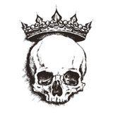 Cráneo Estilo del grabado Ilustración del vector Imagen de archivo libre de regalías