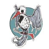 Cráneo gótico del pájaro Foto de archivo