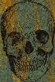 Cráneo hecho punto Imágenes de archivo libres de regalías