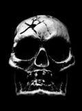 Cráneo humano asustadizo Imagen de archivo libre de regalías