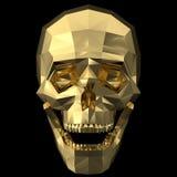 Cráneo humano de oro Imagen de archivo libre de regalías