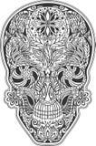 Cráneo humano hecho de flores Imagenes de archivo