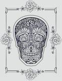 Cráneo humano hecho de flores Fotografía de archivo