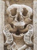 Cráneo. Iglesia del purgatorio. Monopoli. Apulia. imagen de archivo