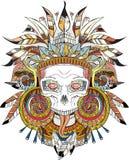 Cráneo indio azteca Imagenes de archivo