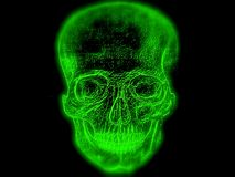 Cráneo mágico del ser humano del brillo Fotografía de archivo