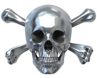 Cráneo metálico stock de ilustración