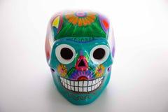 Cráneo mexicano, arte mexicano, pintura del cráneo imagen de archivo